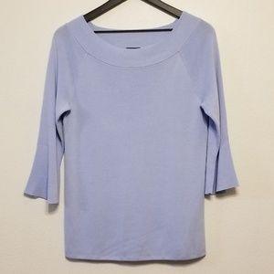 Talbots light blue ribbed boatneck sweater